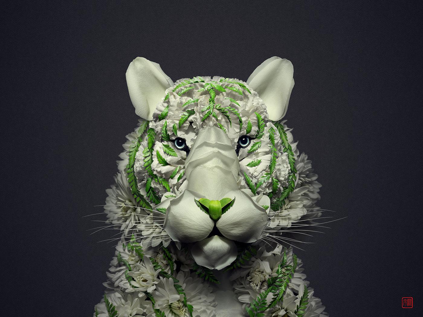 advertising ideas white tiger by raku inoue