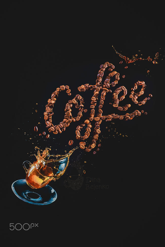 food art advertising idea photo manipulations coffee