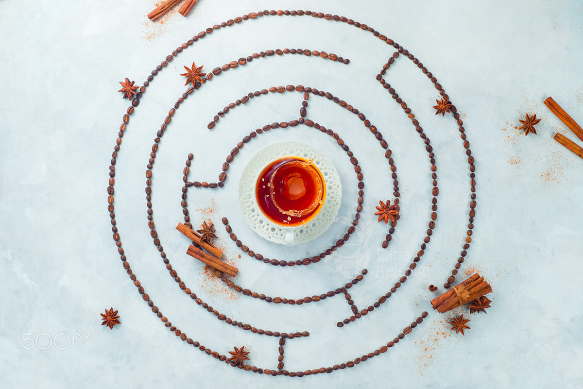 food art advertising idea photo manipulations coffee maze