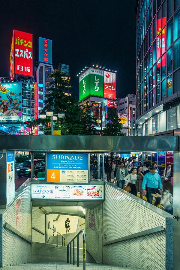 night photography city subway