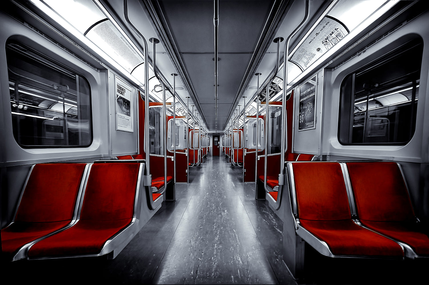 symmetry photography abstract subway car