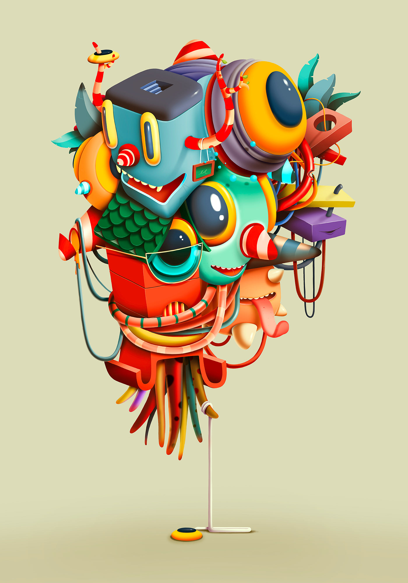 digital illustration doodle illustration by oscar llorens