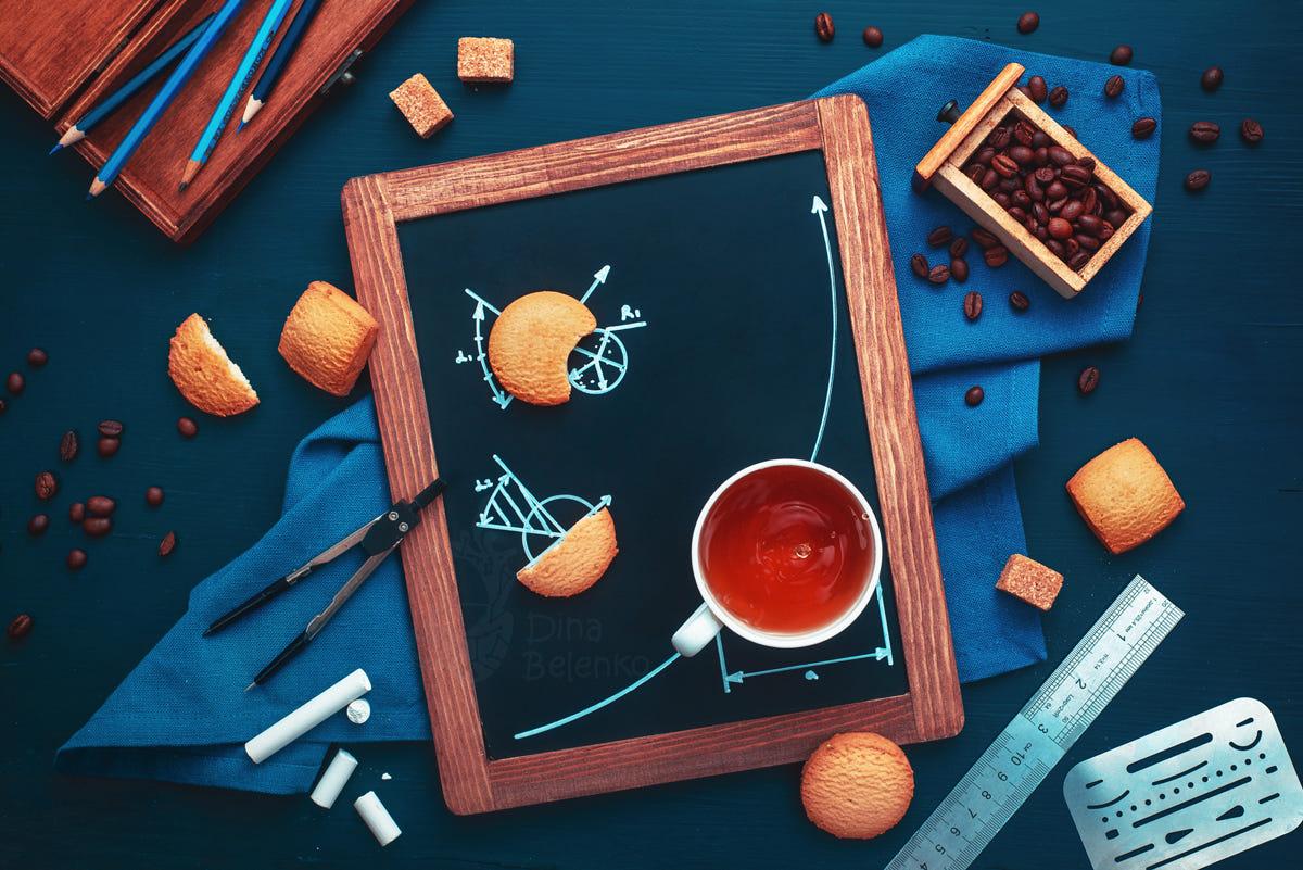 food art advertising idea photo manipulations coffee geometry by dina belenko