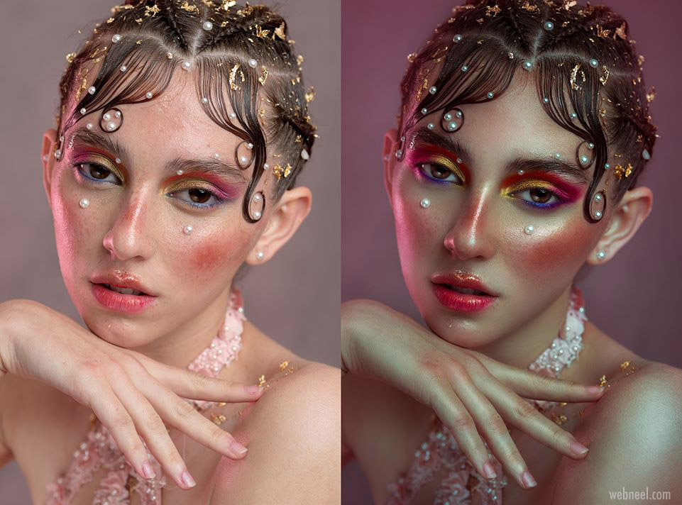 photo retouching after before beauty photography woman rebecca saray