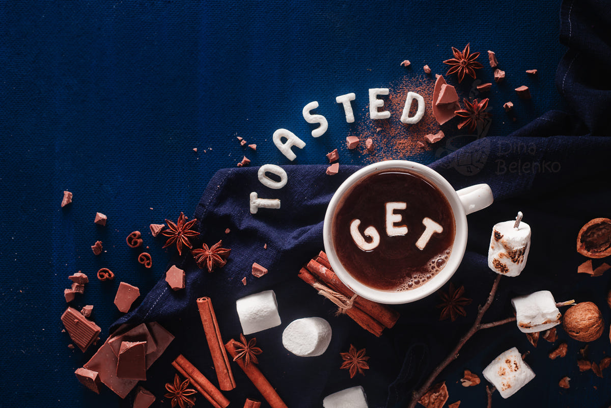 food art advertising idea photo manipulations get toasted