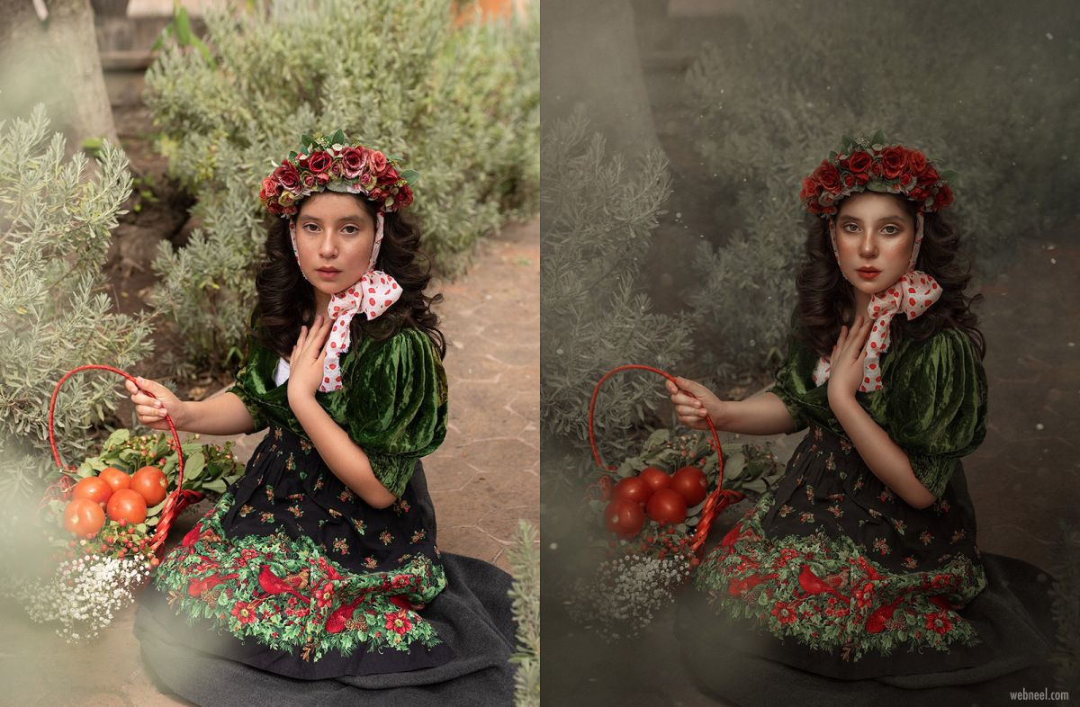 photo retouching after before woman rebecca saray