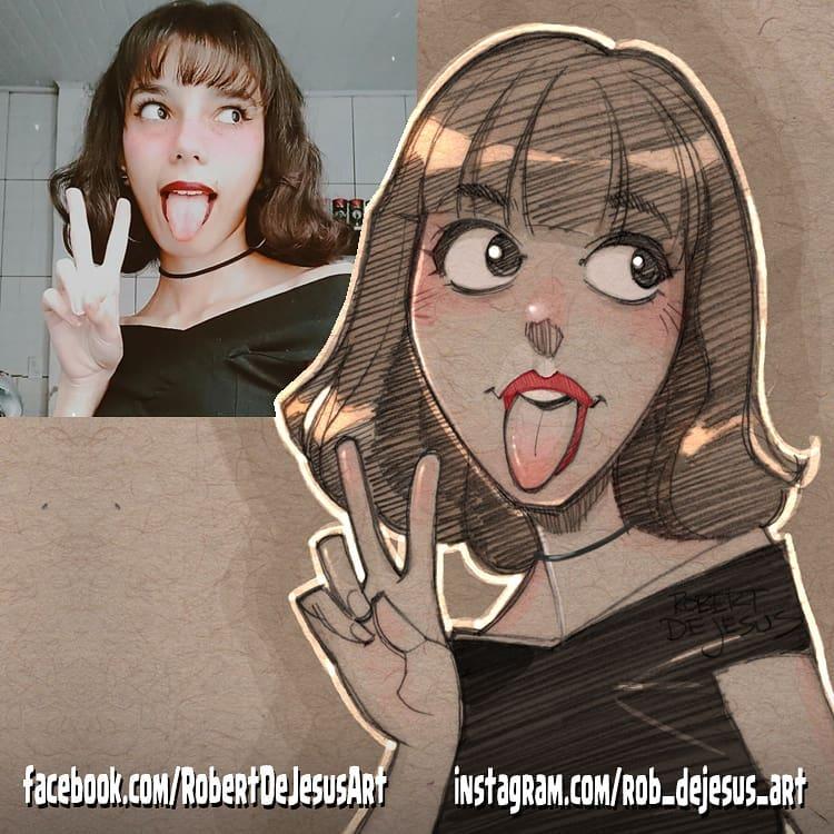 photo to cartoon drawing