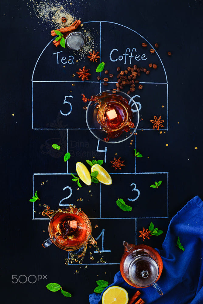 food art advertising idea photo manipulations hopscotch