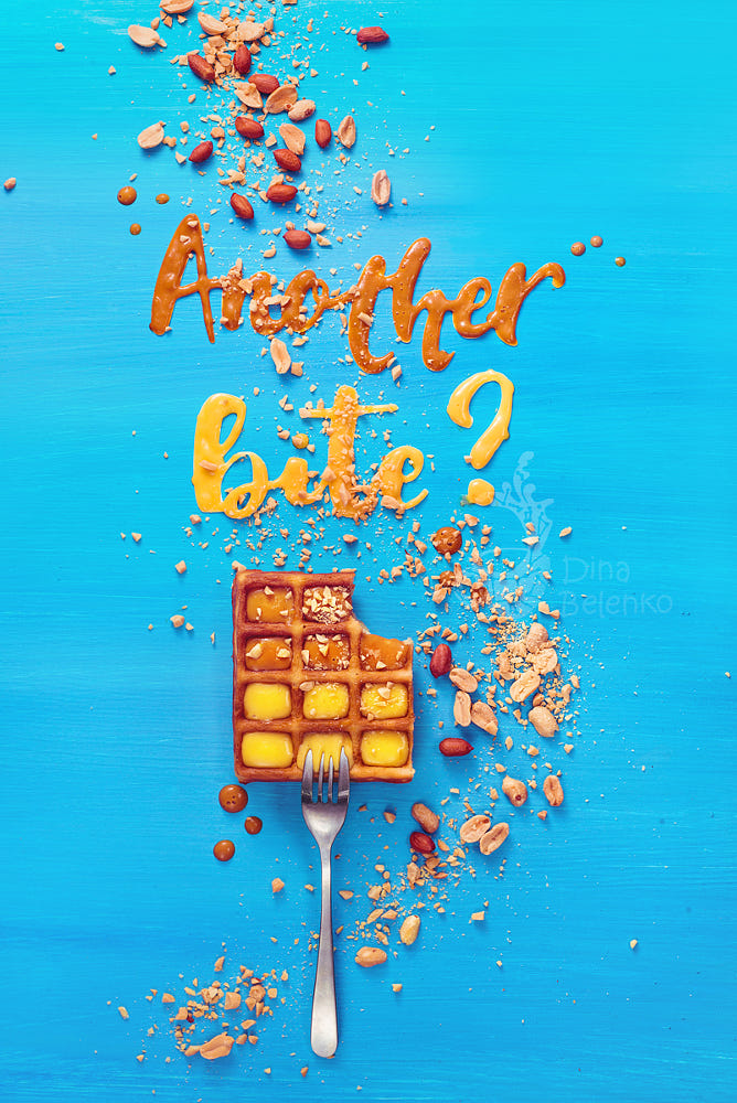 food art advertising idea photo manipulations another bite