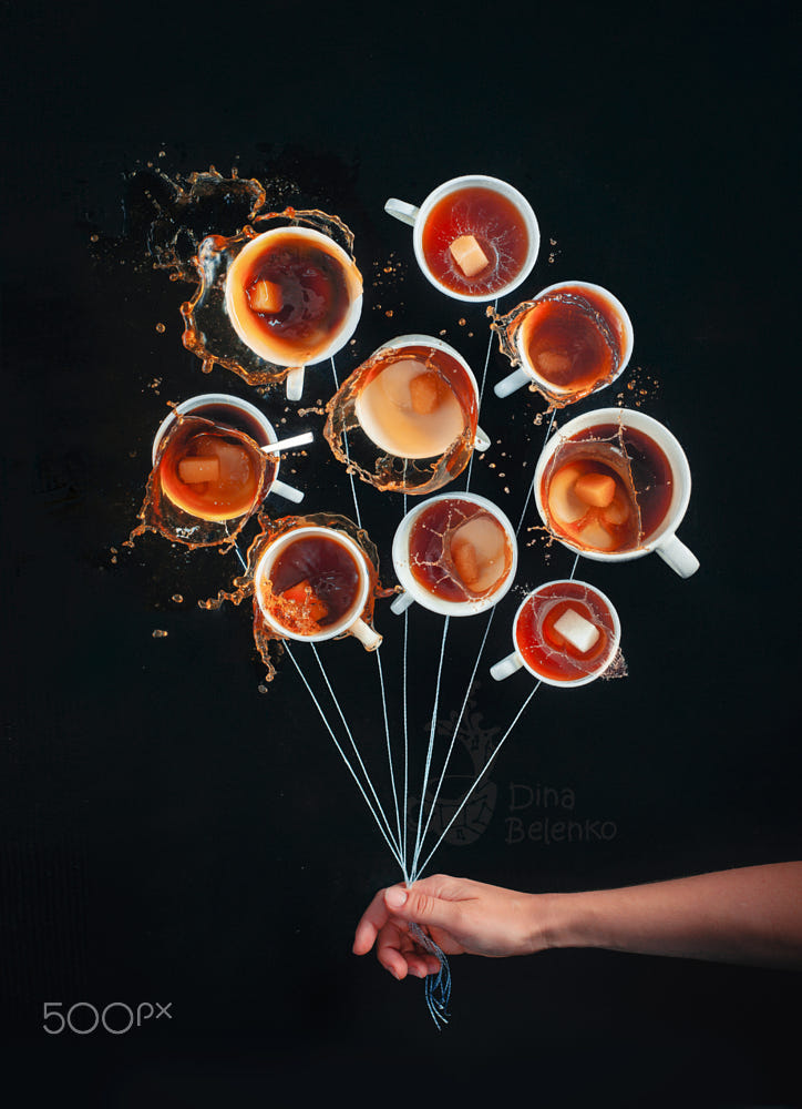 food art advertising idea photo manipulations coffee balloon