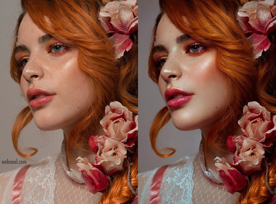 photo retouching work woman beauty by rebecca saray