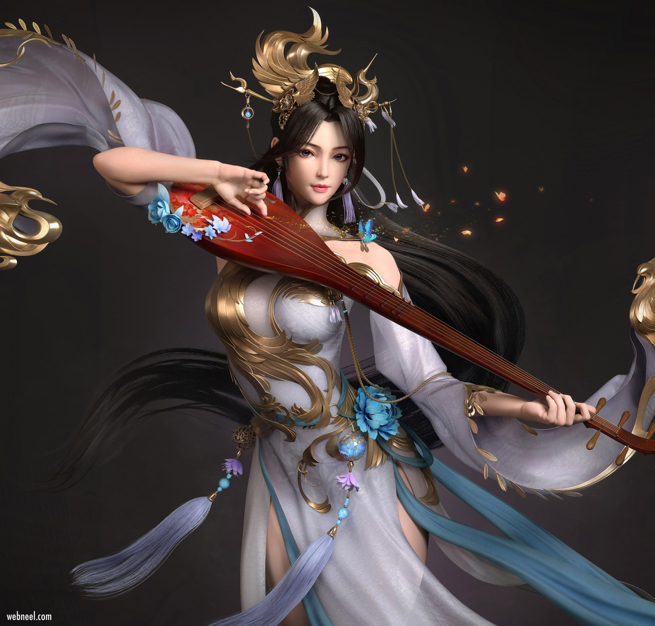 3d model fantasy girl chinese by mzchou ycfcg