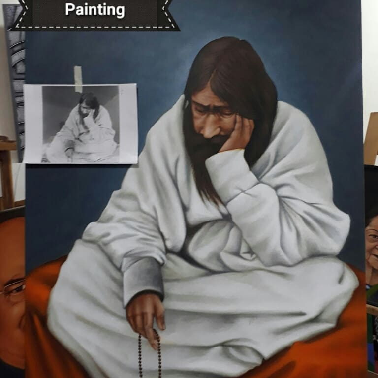 indian painting priest