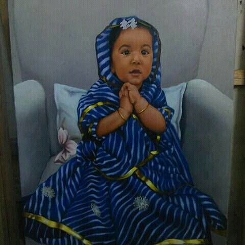 indian painting baby