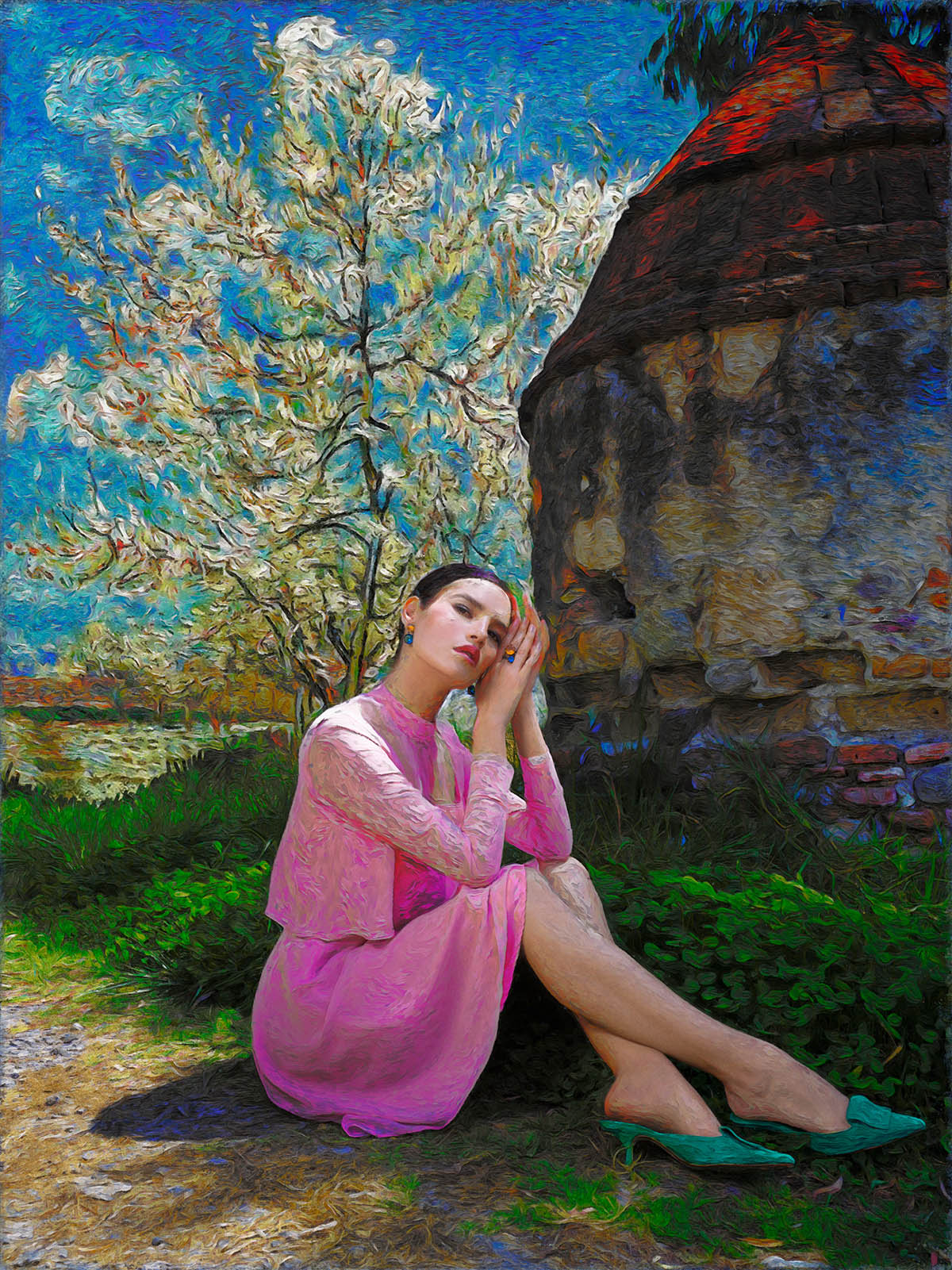 advertising photography van gogh painting style