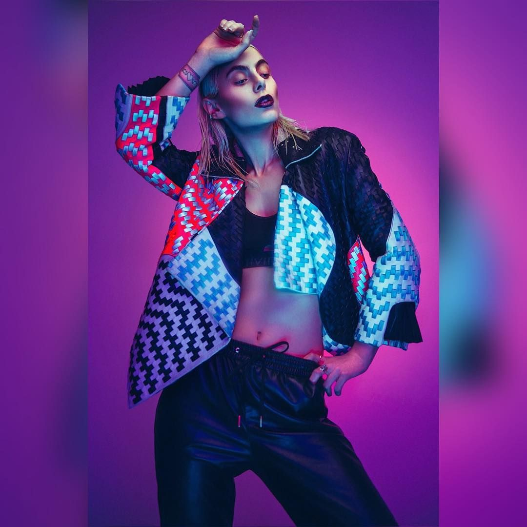 neon advertising fashion photography