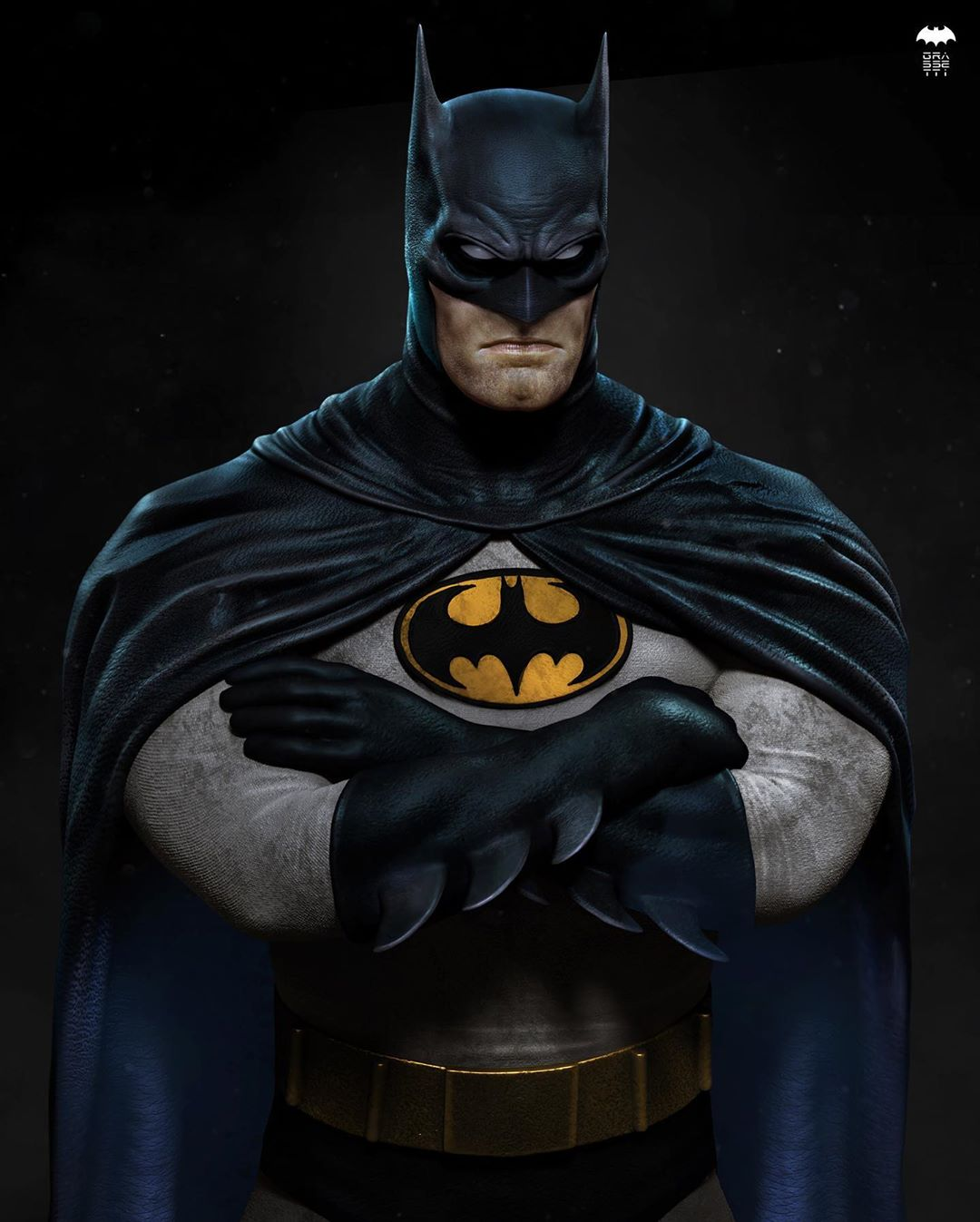 3d model character design batman by raf grassetti