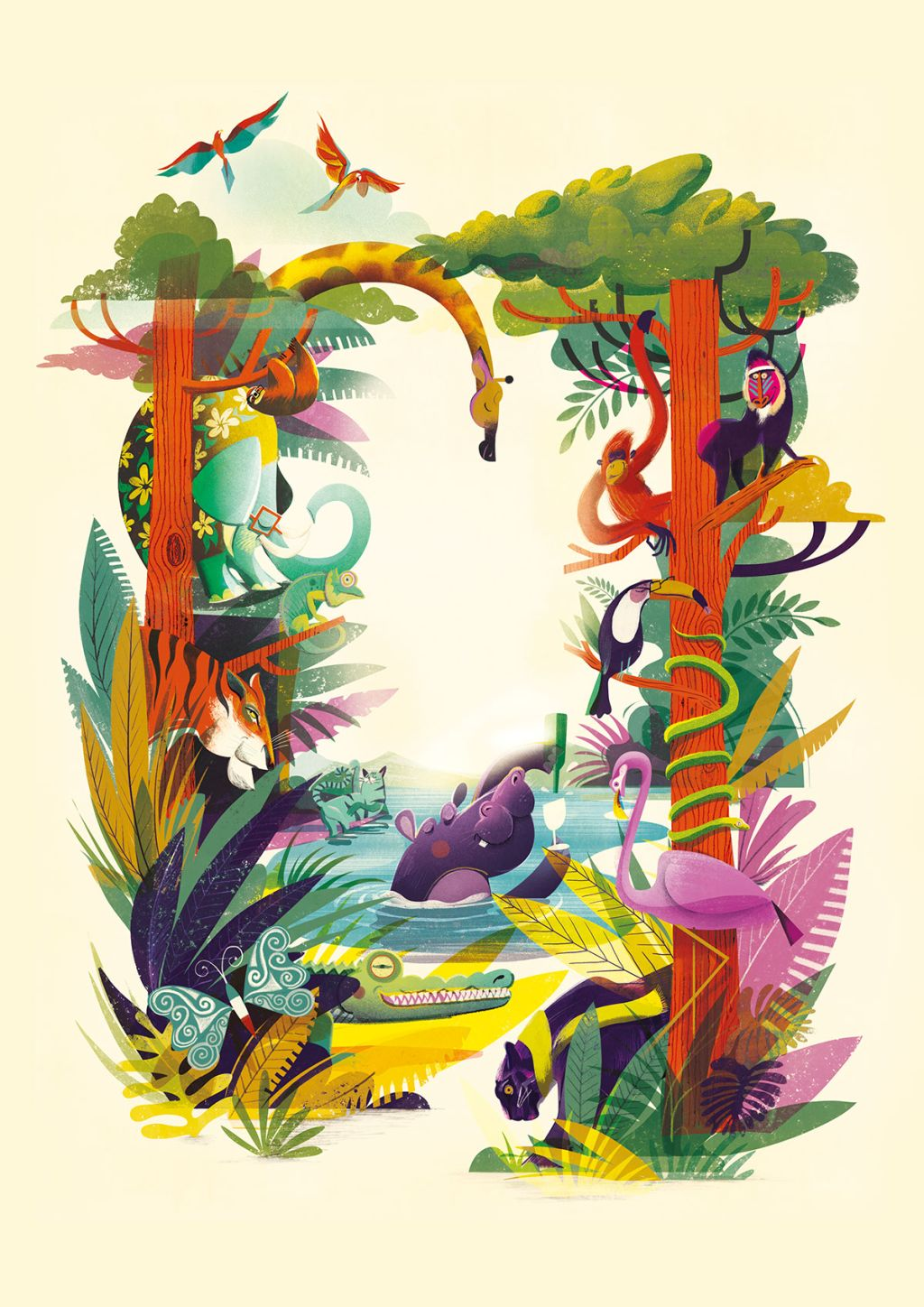 digital illustration editorial jungle