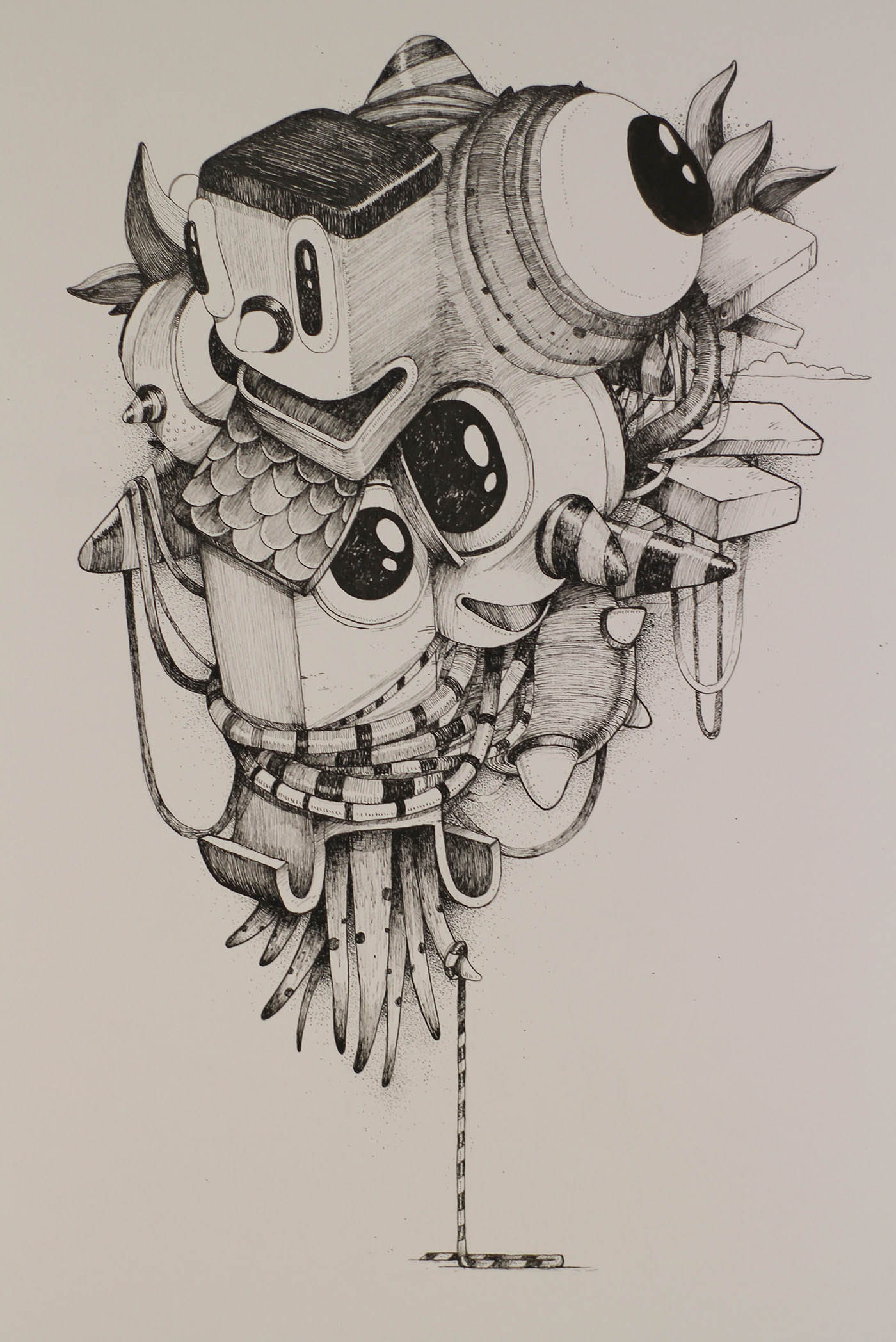 graphite drawing doodle illustration