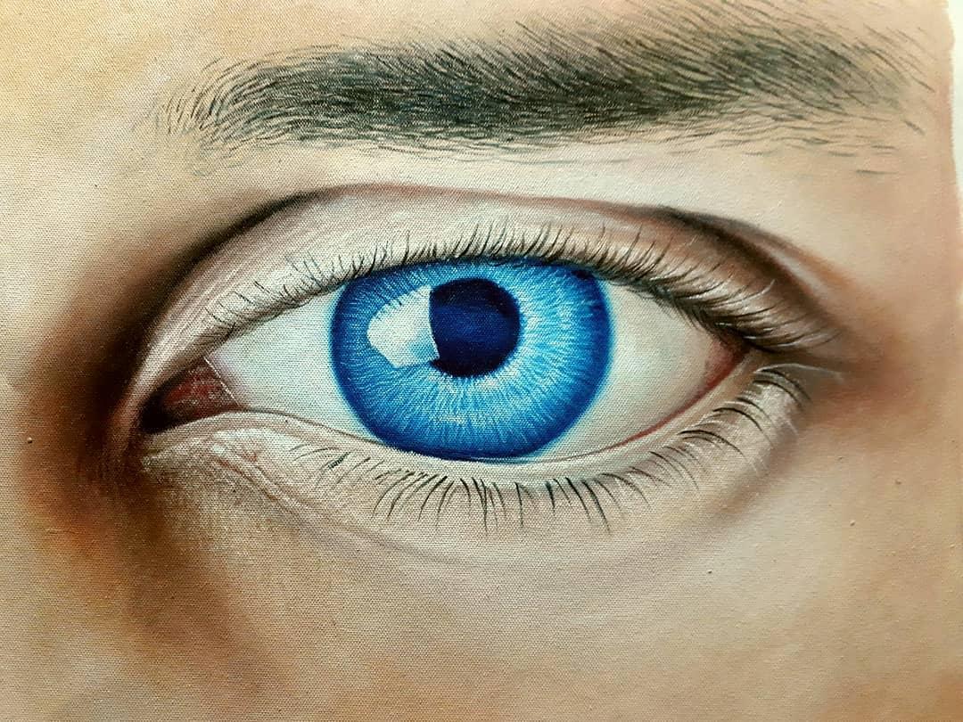 indian painting eye