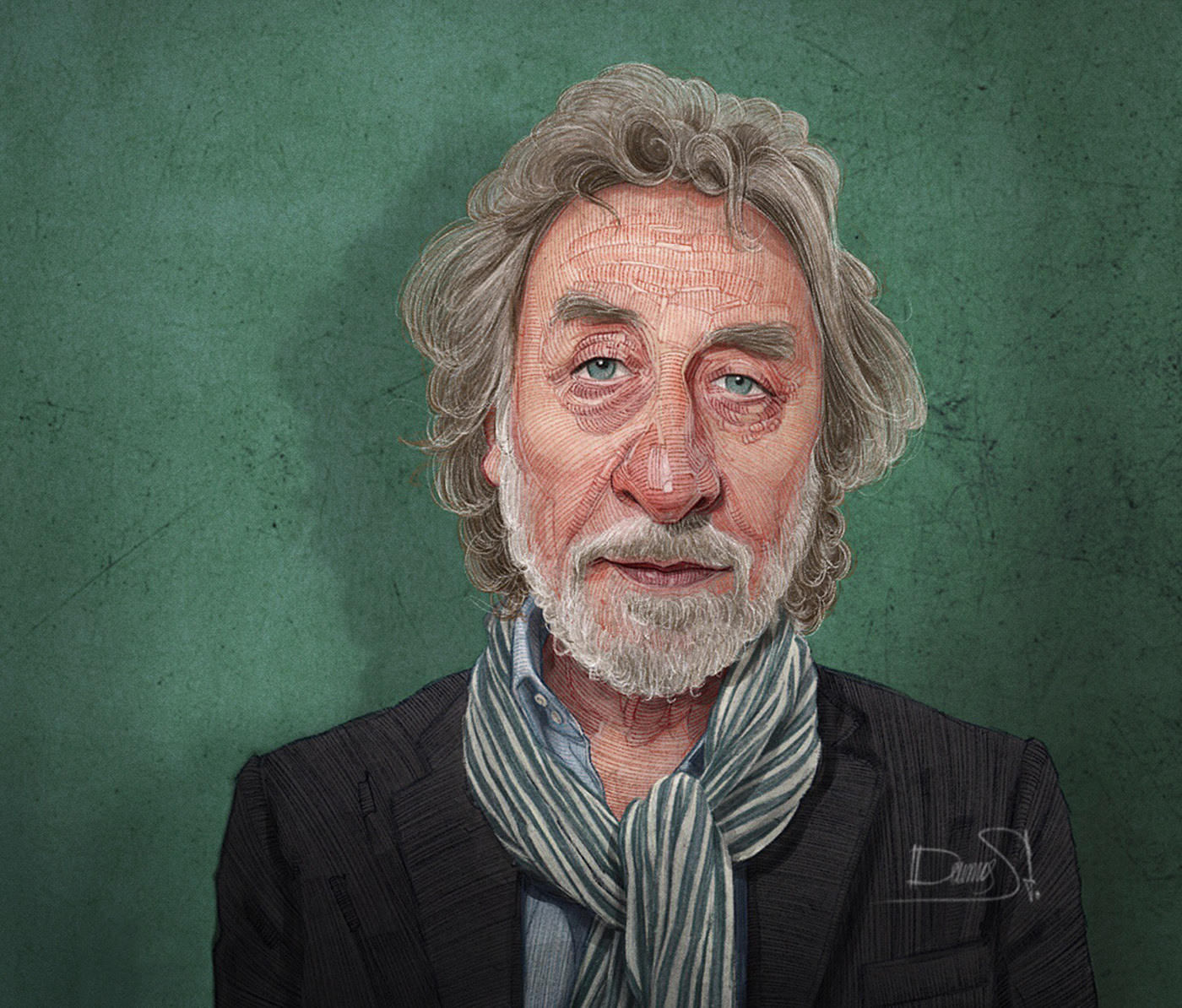 caricature illustration howard jacobson by stavros damos