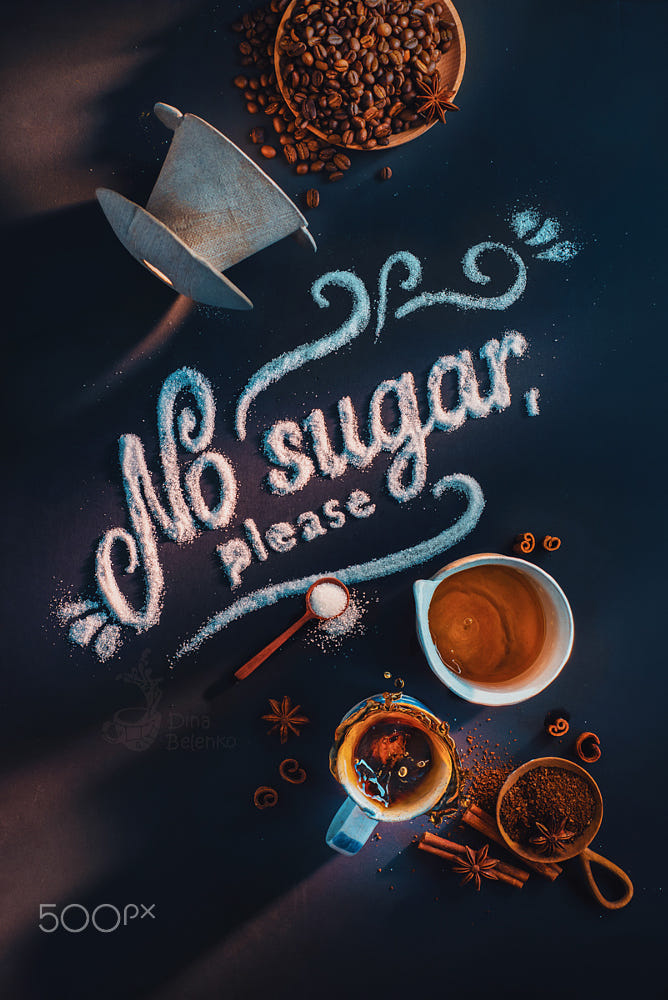 food art advertising idea photo manipulations no sugar