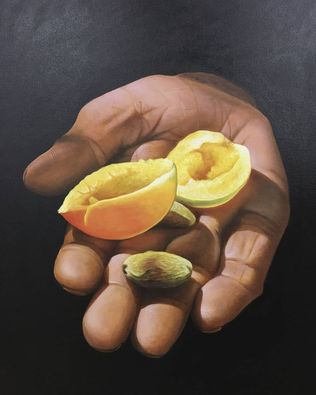 indian painting fruit