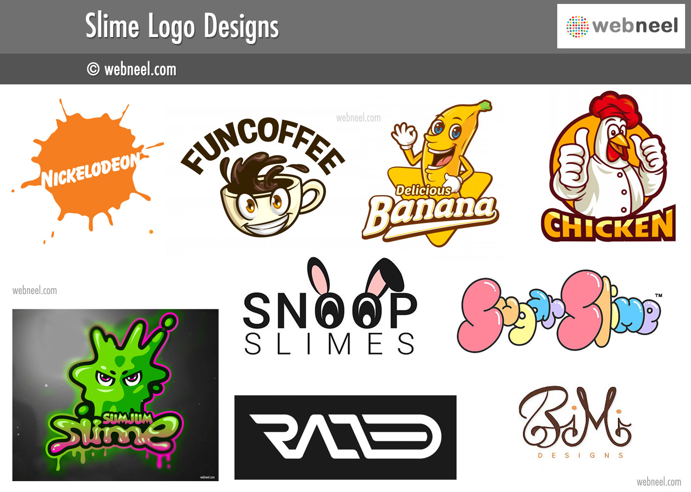 slime logo different types of logo design
