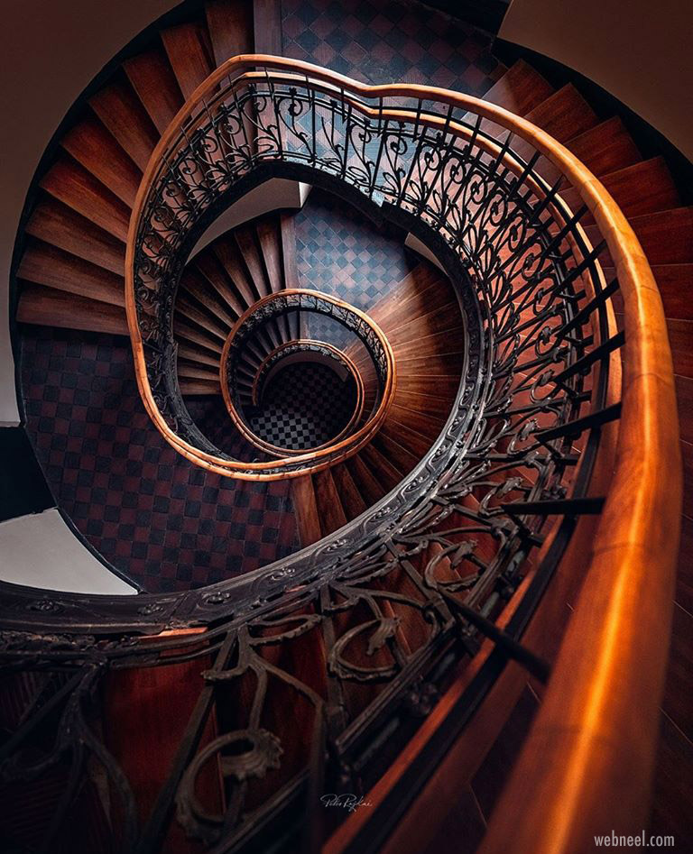 abstract photography staircase wasaw by peter rajkai