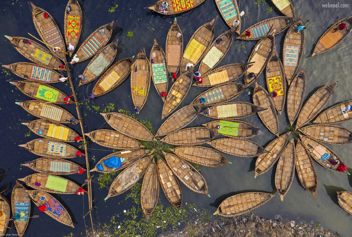 aerial photography boats beautiful picture by azim khan ronnie