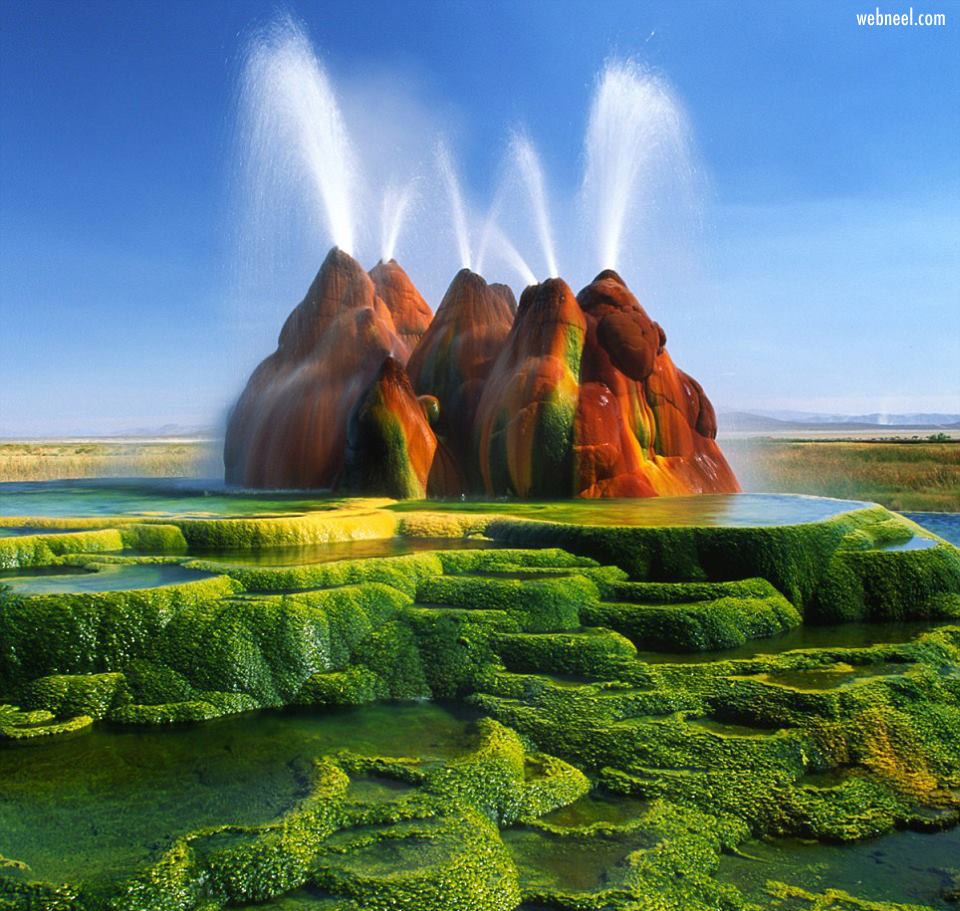 beautiful landscape fly geyser nature falls