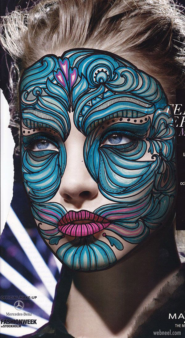 face painting abstract