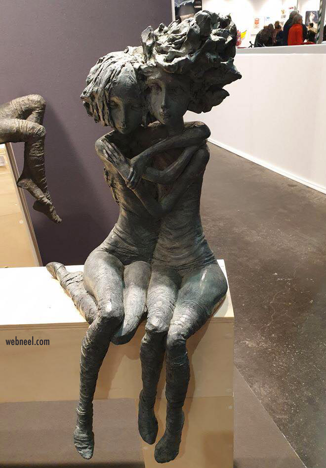 sculpture idea friends by valerie hadida