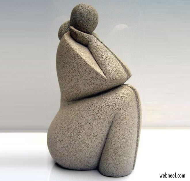 sculpture woman by mireille lauf marquis