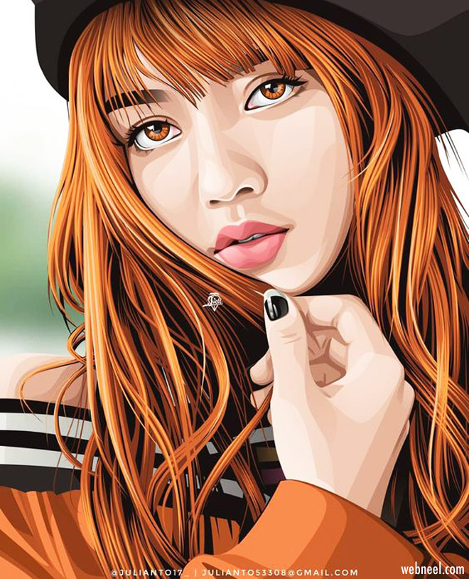 vector illustration portrait girl by jvctr05