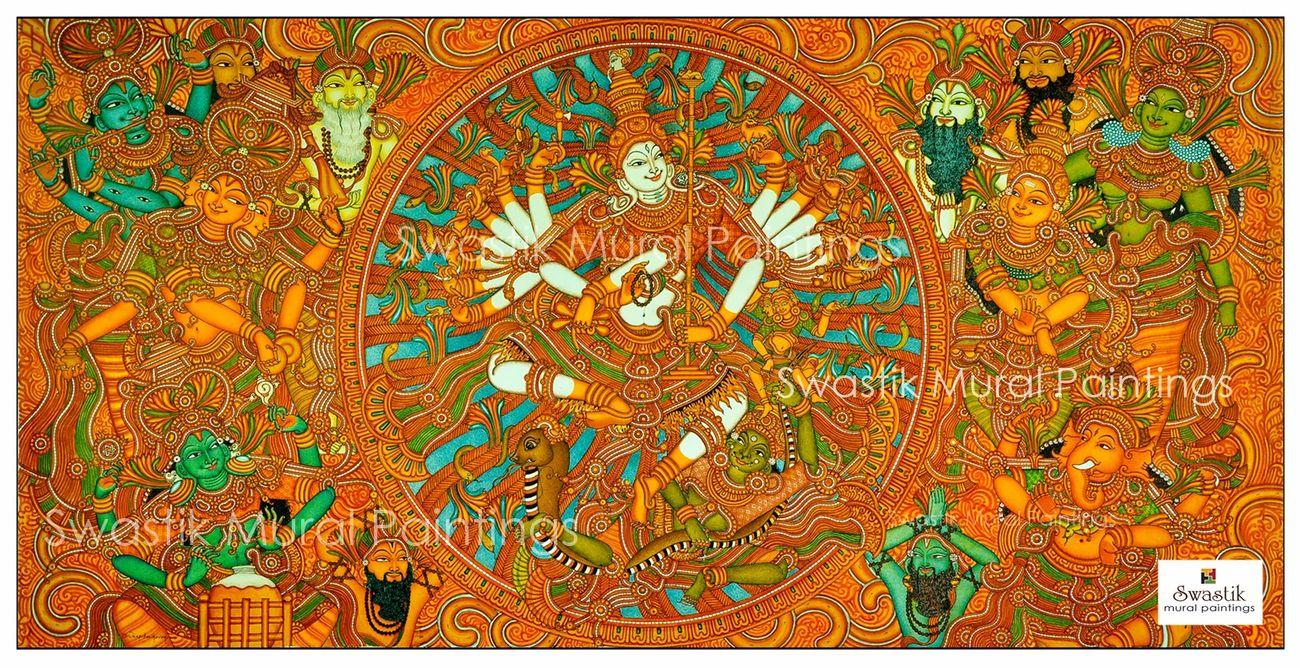 kerala mural painting pradosha nritham