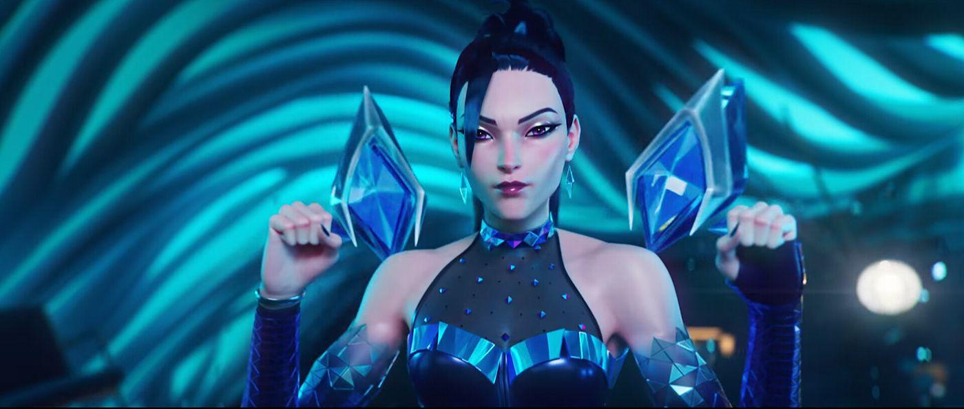 3d game model league of legend sci fi girl