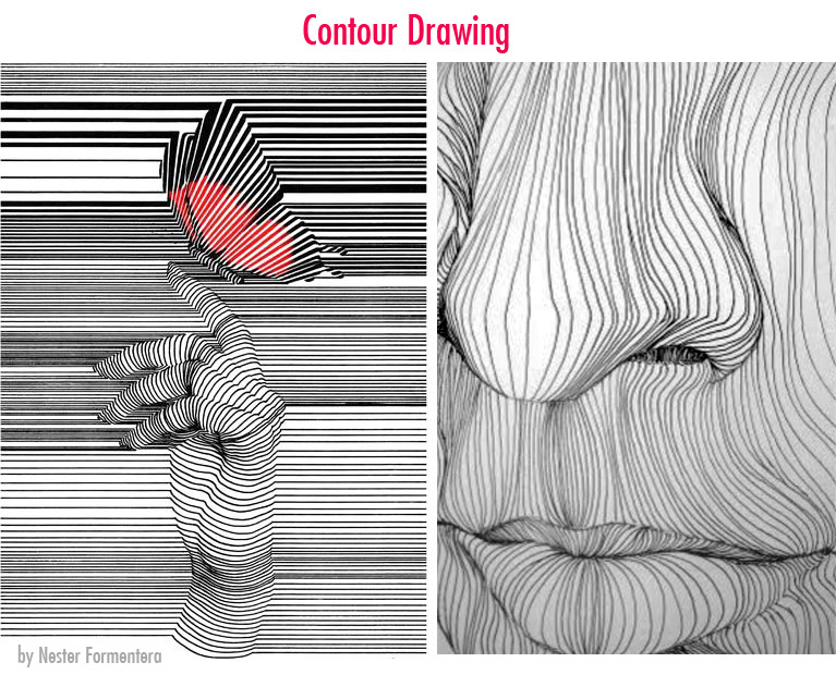 contour drawing type