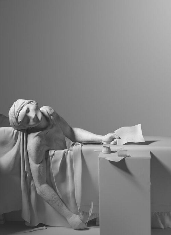 3d model design painting the death of marat brussels museum