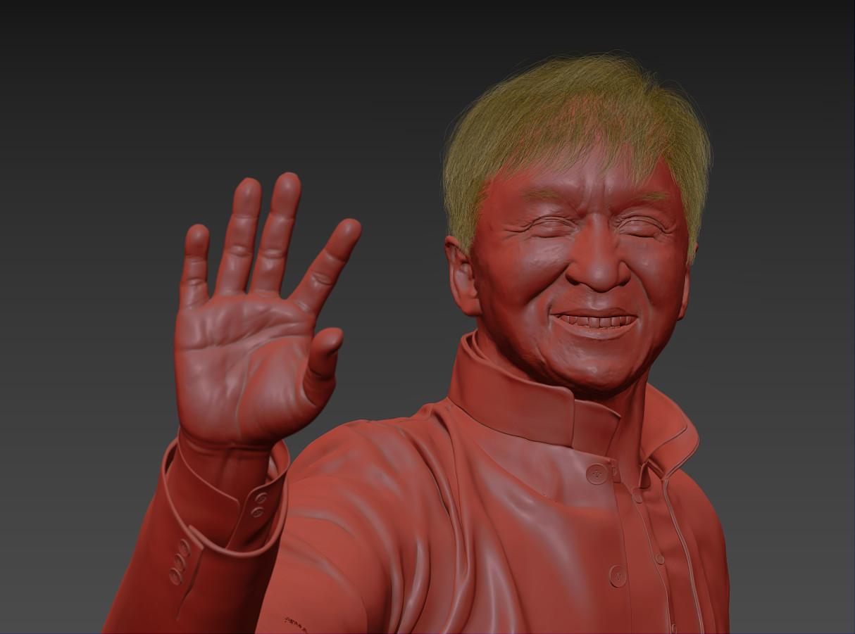 3d model jackie chan by aleksandr lyan