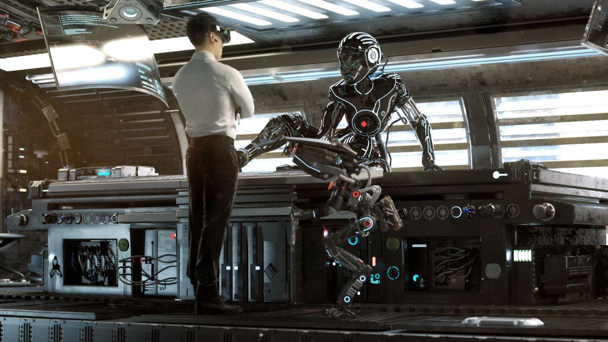 3d robot model design by stuart lynch