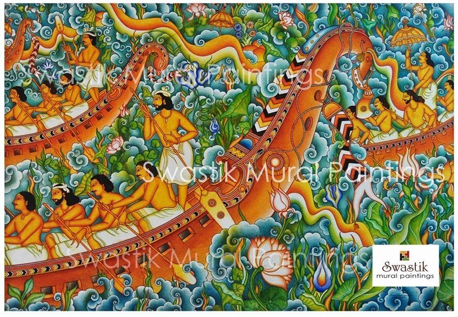 kerala mural painting boat race