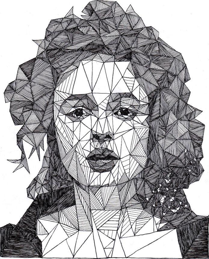 triangulation drawing portrait
