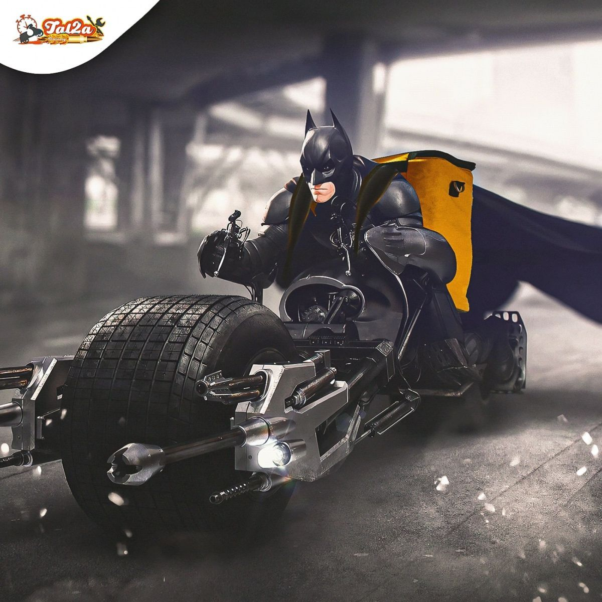advertising campaign delivery batman by mohamed hamdy