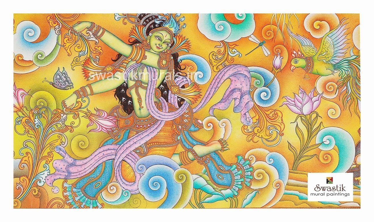 kerala mural painting radha