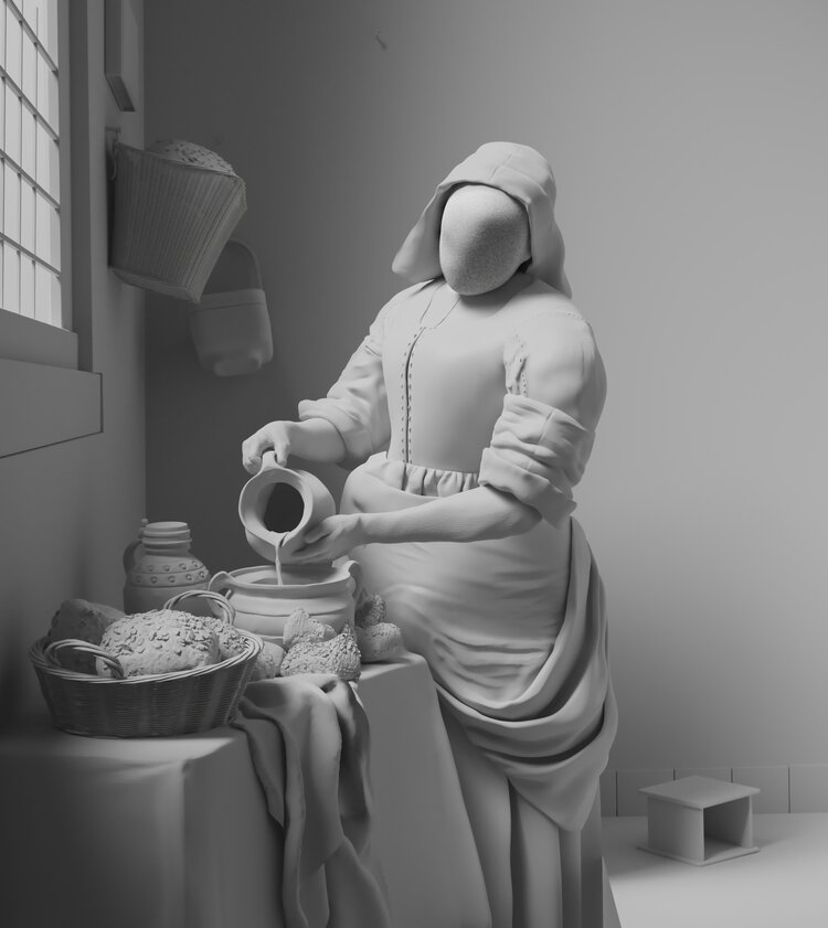 3d model design painting milkmaid