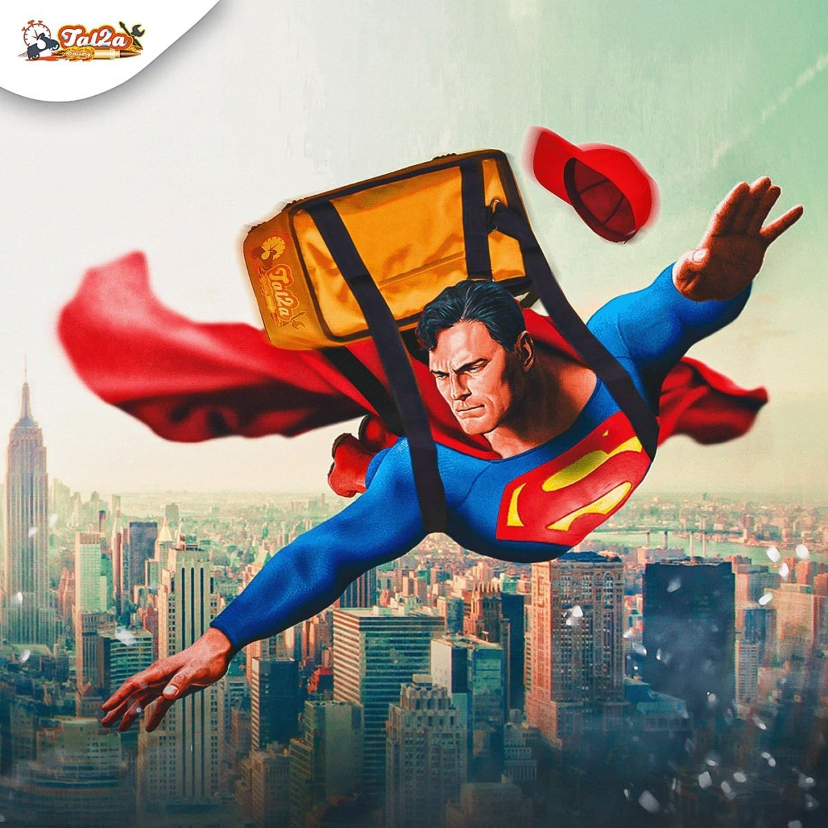 photo manipulation delivery superman by mohamed hamdy