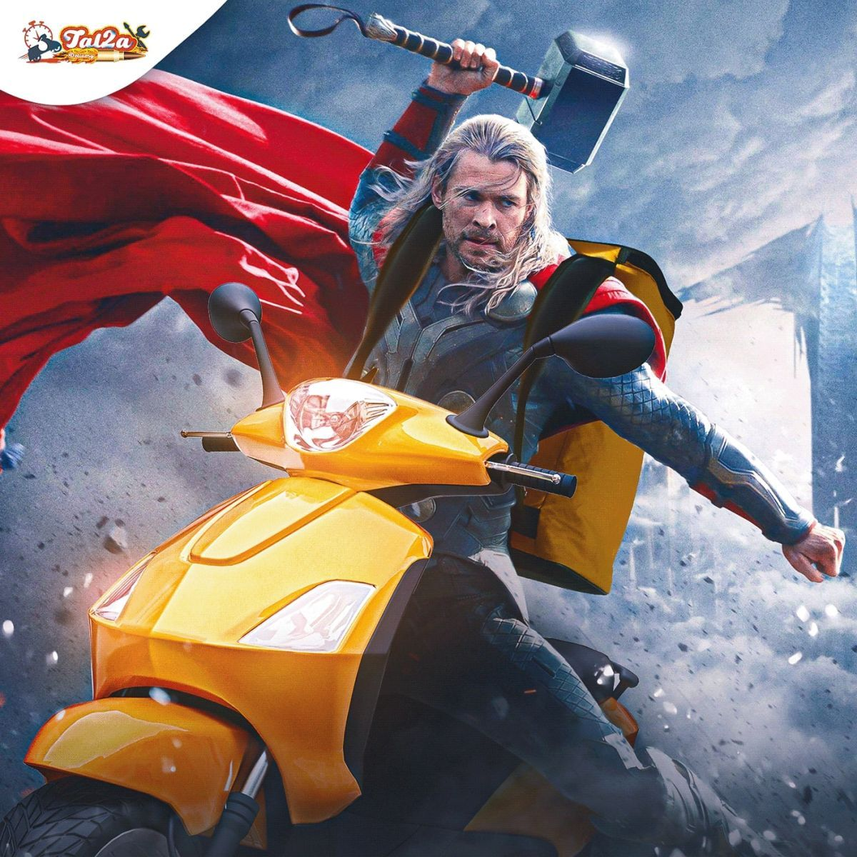 photomanipulation super heroes delivery thor by mohamed hamdy