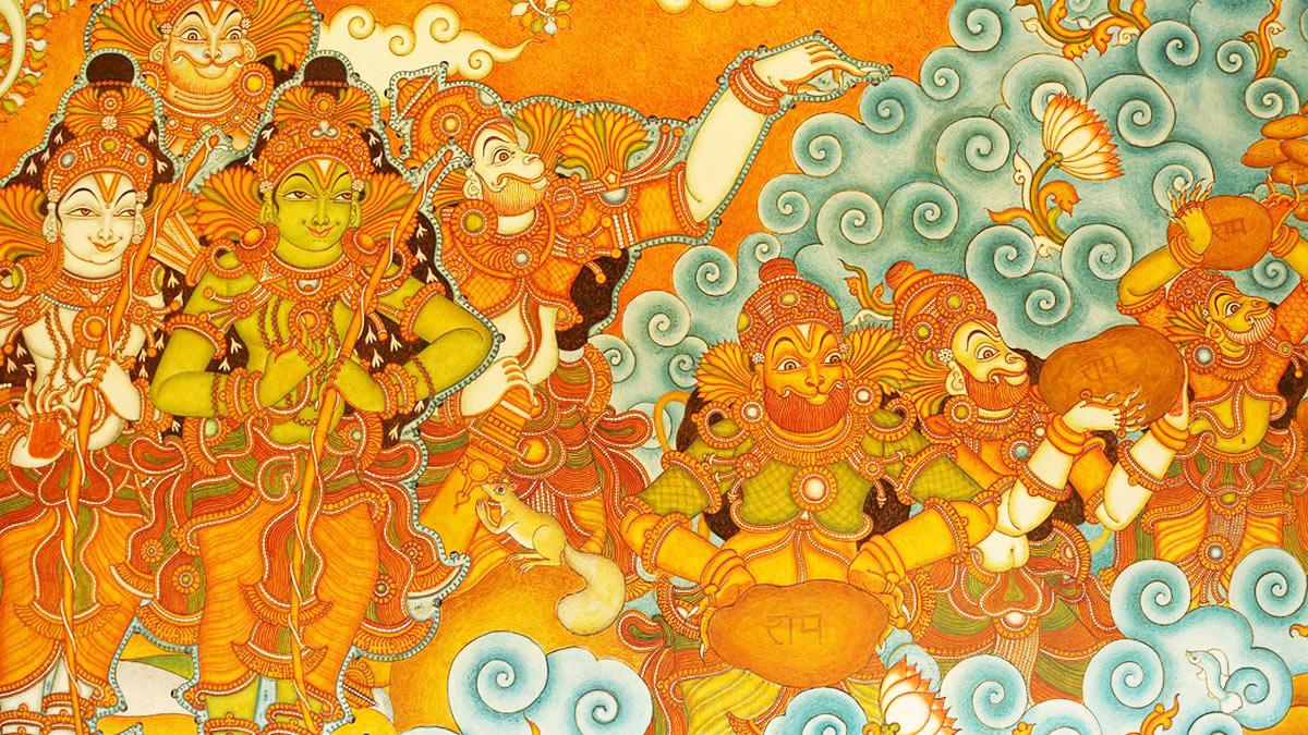 kerala mural painting of ramayana thiruvangad sree ramaswamy temple