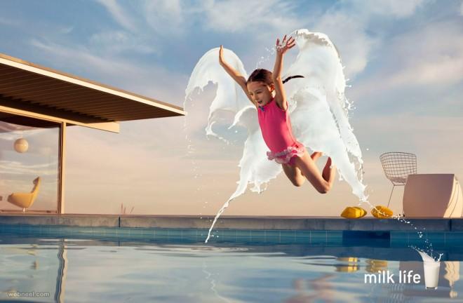 splashing effect milk photo manipulation dimitri